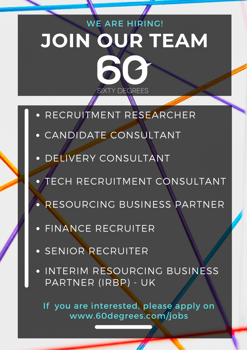 test Twitter Media - 60 Degrees is Hiring in SA & the UK!  Come join our team! If you are interested in working with our team of experts, please visit our website; https://t.co/HnvReH5wtO  #nowhiring #talentaquisition #astonholmes #recruitment2021 #recruitmentconsultants https://t.co/tl2CRdnSTo