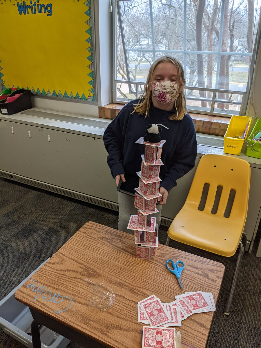 Card Tower Challenge! @APS_ATS @APS_STEM https://t.co/uQz3yWeJ8n