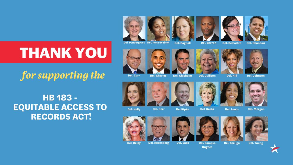 Maryland citizens' access to public documents just got better, thanks to these lawmakers & the bill's sponsor, @BrookeELierman. Thank you. Hoping for unanimous Senate approval too. @CherylKagan @PaulPinsky #mdga21 #FOIA @washingtonpost @marylandmatters @OpinionDBK @merrillcollege https://t.co/kLifhjtCZp