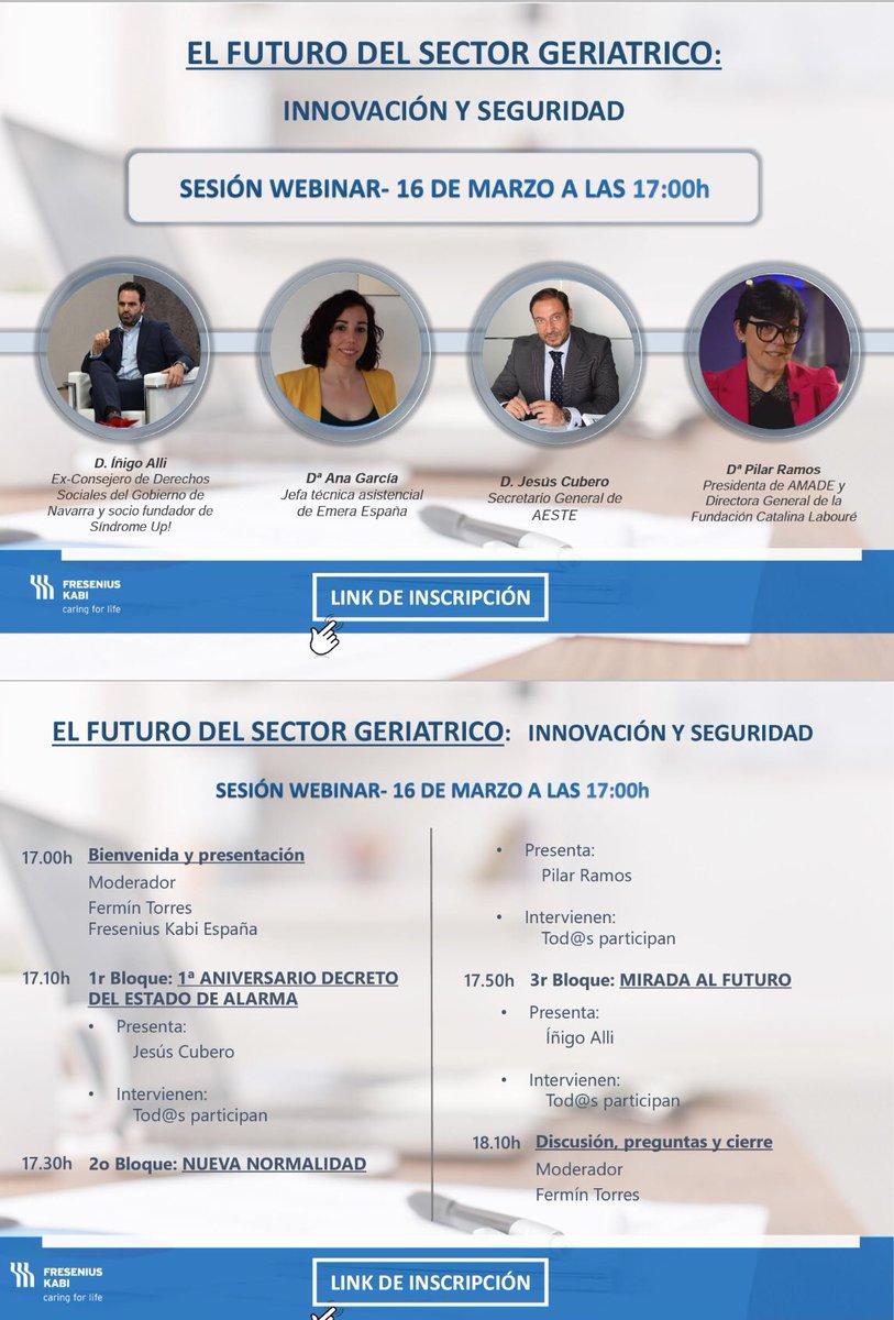 test Twitter Media - 🌐 El próximo martes 16 de marzo participaré en la webinar organizada por @FreseniusKabiNC sobre el futuro del sector geriátrico en España.  @AESTE_oficial @FreseniusKabi  👉🏻 Puedes inscribirte en: https://t.co/6wzEkUFavC https://t.co/YgFVgELQMR