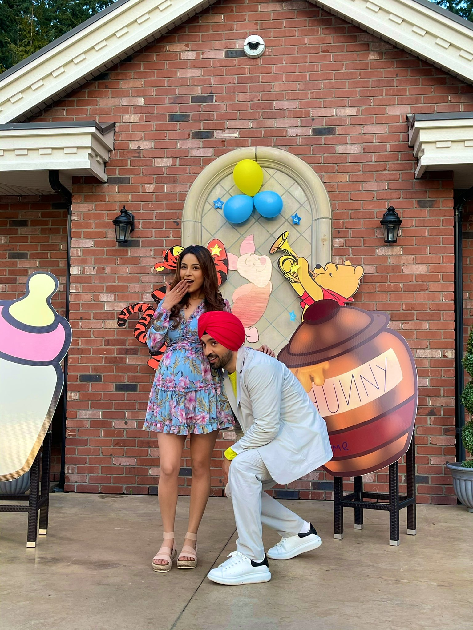 Bigg Boss 13 contestant Shehnaaz Gill is excited for Honsla Rakh opposite Diljit Dosanjh. Sharing excitement, she shared picture with Diljit.
