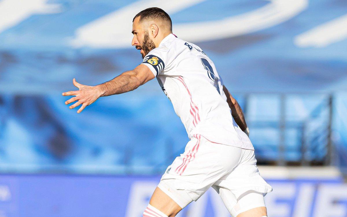 #RealMadridGetafe ⚽️  #RealMadridValencia ⚽️  #AtlétiRealMadrid ⚽️  #RealMadridElche ⚽️   เวลานี้ @Benzema ทำประตูจาก 4 เกมหลังสุดของเขาให้กับ @realmadriden ใน #LaLigaSantander! 💯