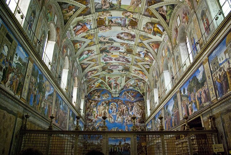 Los frescos de Miguel Ángel 🥺 #creaciondeadan #eljuiciofinal #capillasixtina #museovaticano