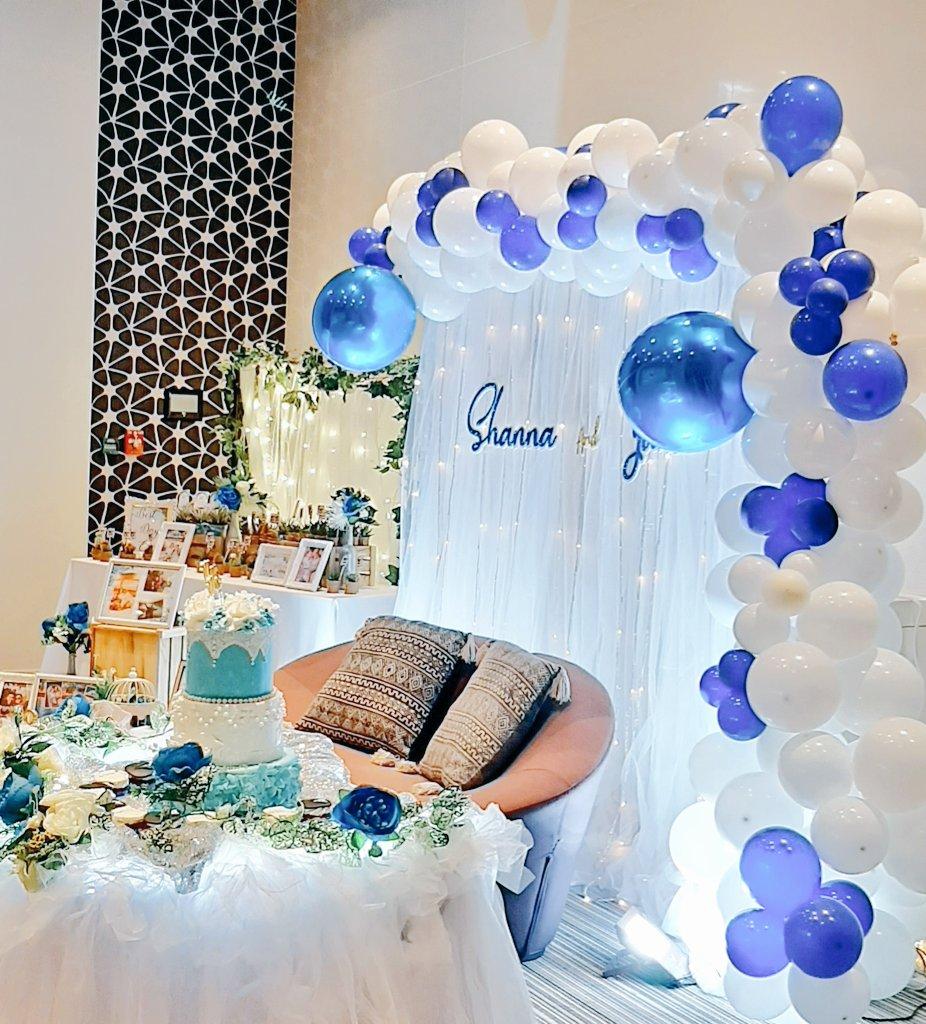 Janno💍Shanna Their new beginning as Mr & Mrs 💕 @mydreampartyAE  #mydreampartyAE #amazingdreamparty #mdpaeparties #mdpaecreativestyling #mdpaeballoongarland #mdpaedecoration #mdpaewedding #weddingonabudget #bluewhite