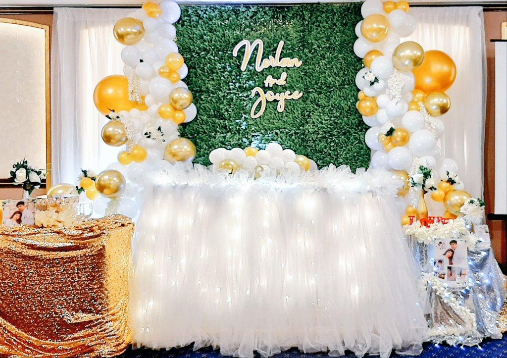 Norlan💍Joyce #mydreampartyAE #amazingdreamparty #mdpaeparties #mdpaeoccasions #mdpaecreativestyling #mdpaedecorations #mdpaeballoongarland #weddingonabudget #mdpaephotobooth #mdpaeweddinghost