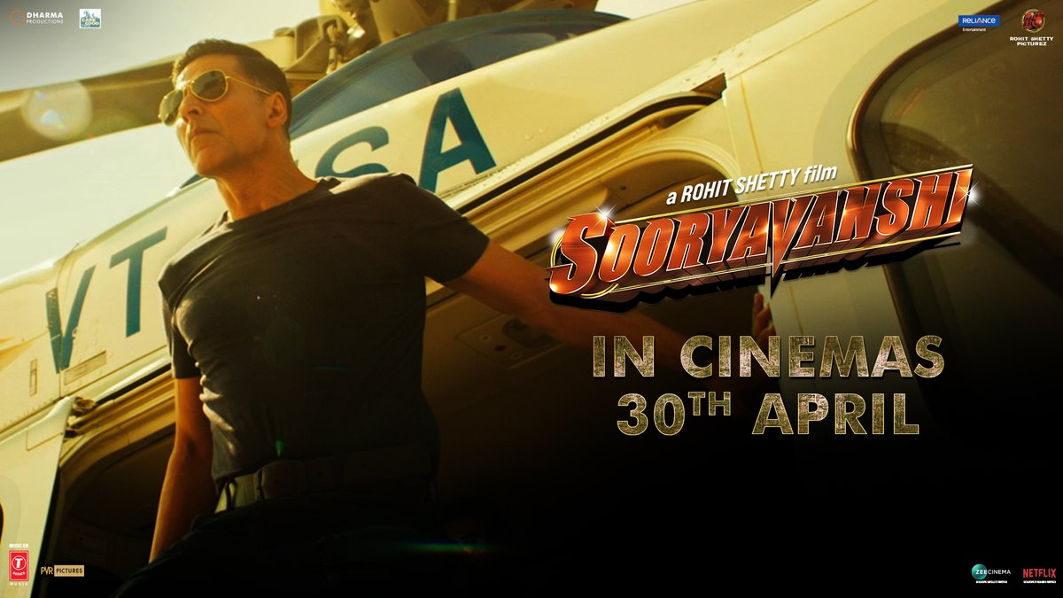 We promised you all a cinematic experience and that's what you will get...the wait is finally over! Aa Rahi Hai Police👮♀️ #Sooryavanshi releasing worldwide in cinemas on 30th April 2021.  #Sooryavanshi30thApril https://t.co/IZbczUqmqu