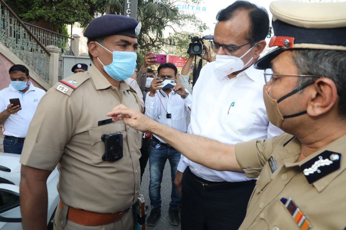 Gujarat Police gets 10,000 body worn cameras including 1,000 that can do live broadcast