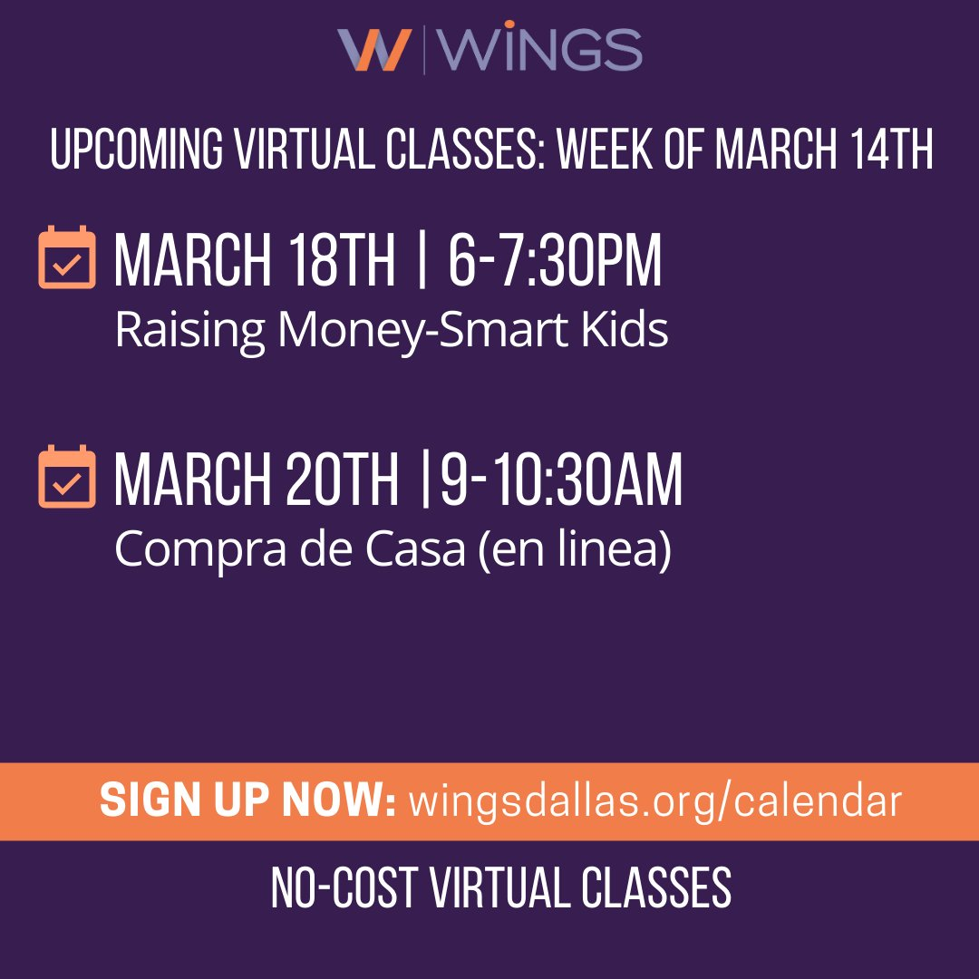 test Twitter Media - We offer our free virtual classes in English and Spanish! This week we have a class on children's savings and teaching positive money habits. Then on Saturday, join us for a Homebuying class in Spanish! Tag a friend you'd like to invite! Register: https://t.co/VaAFMOs4HS https://t.co/fzF9jAzAQP