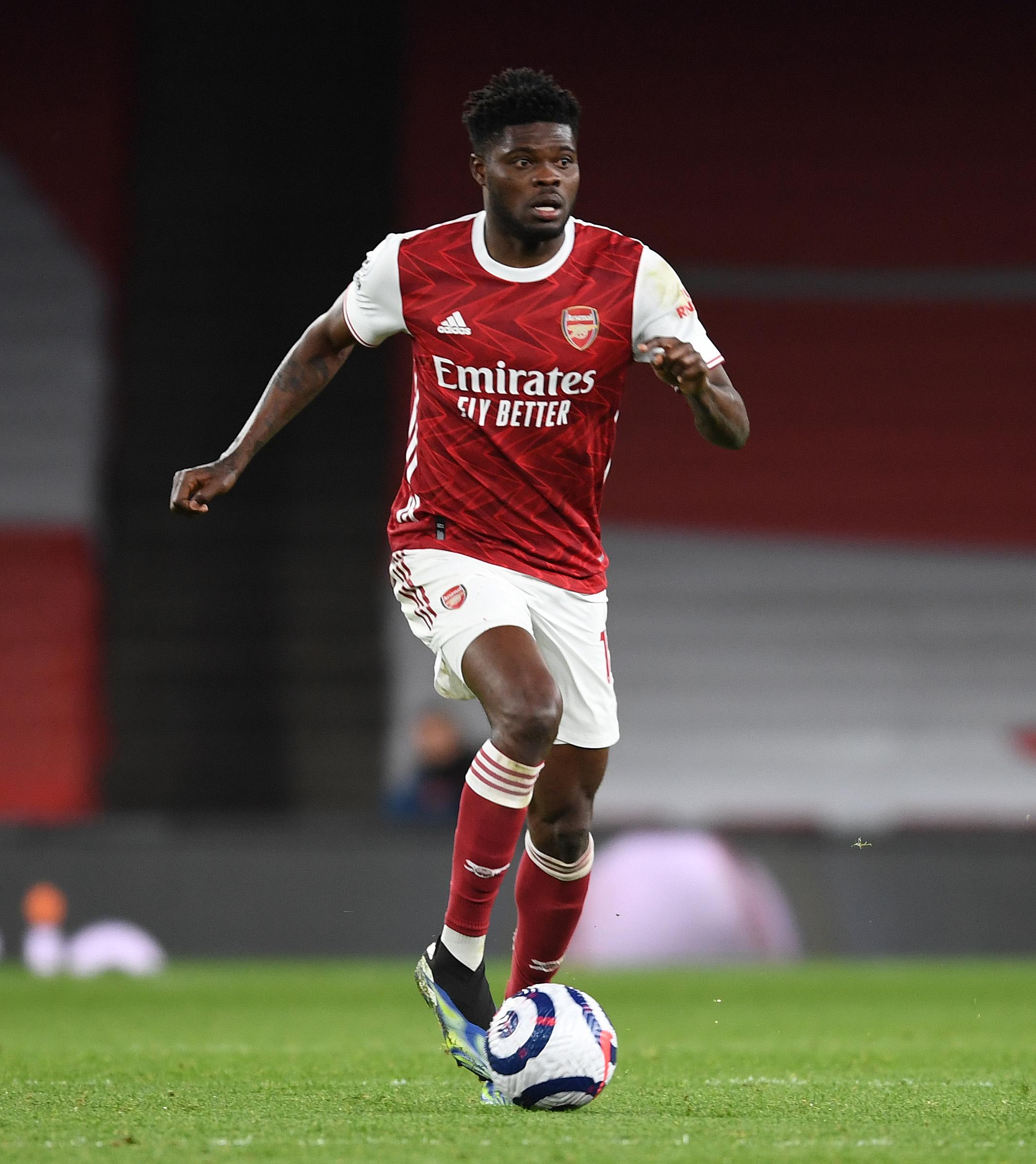 Thomas Partey in action against Tottenham