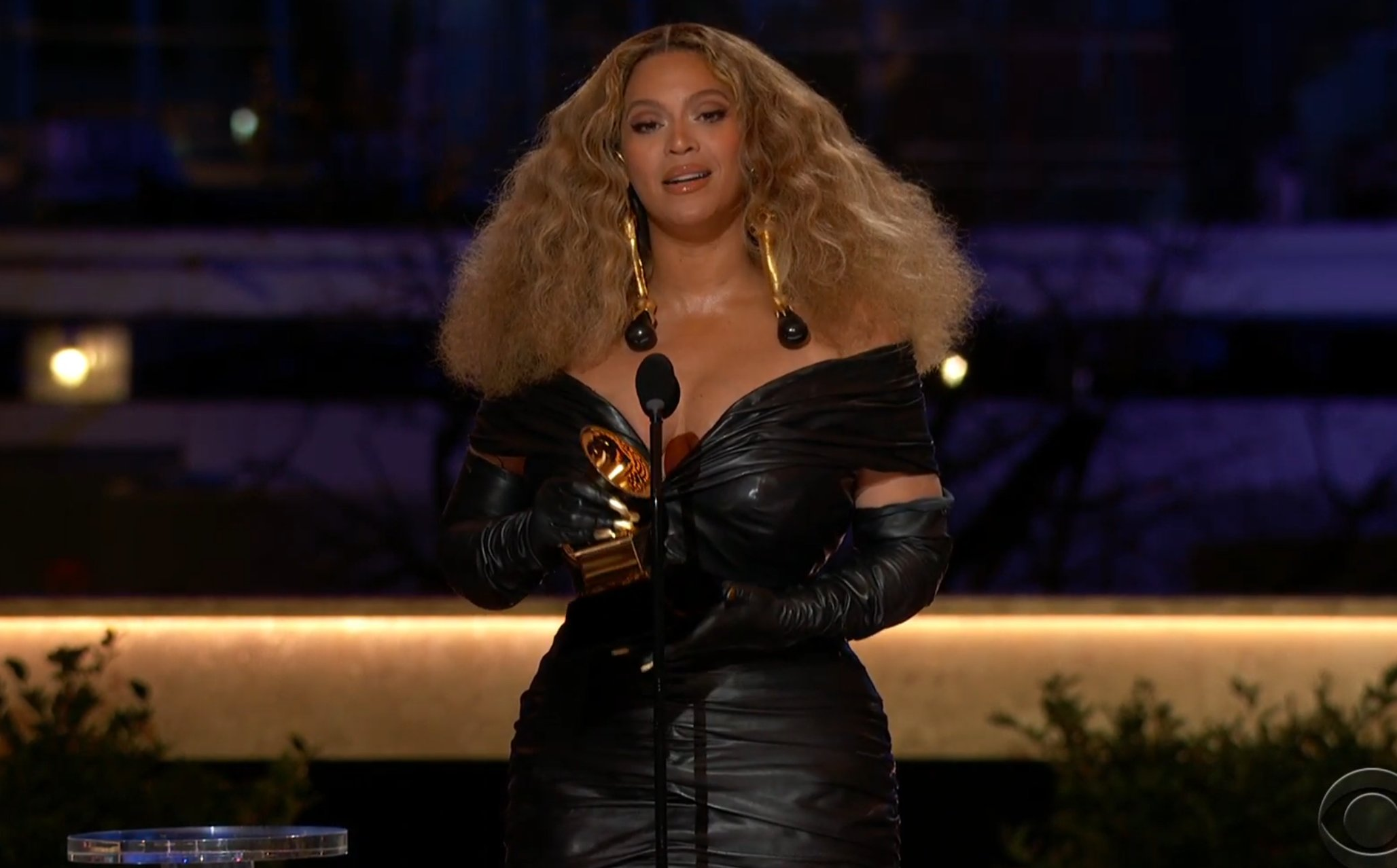 Beyonce at Grammys via CBS