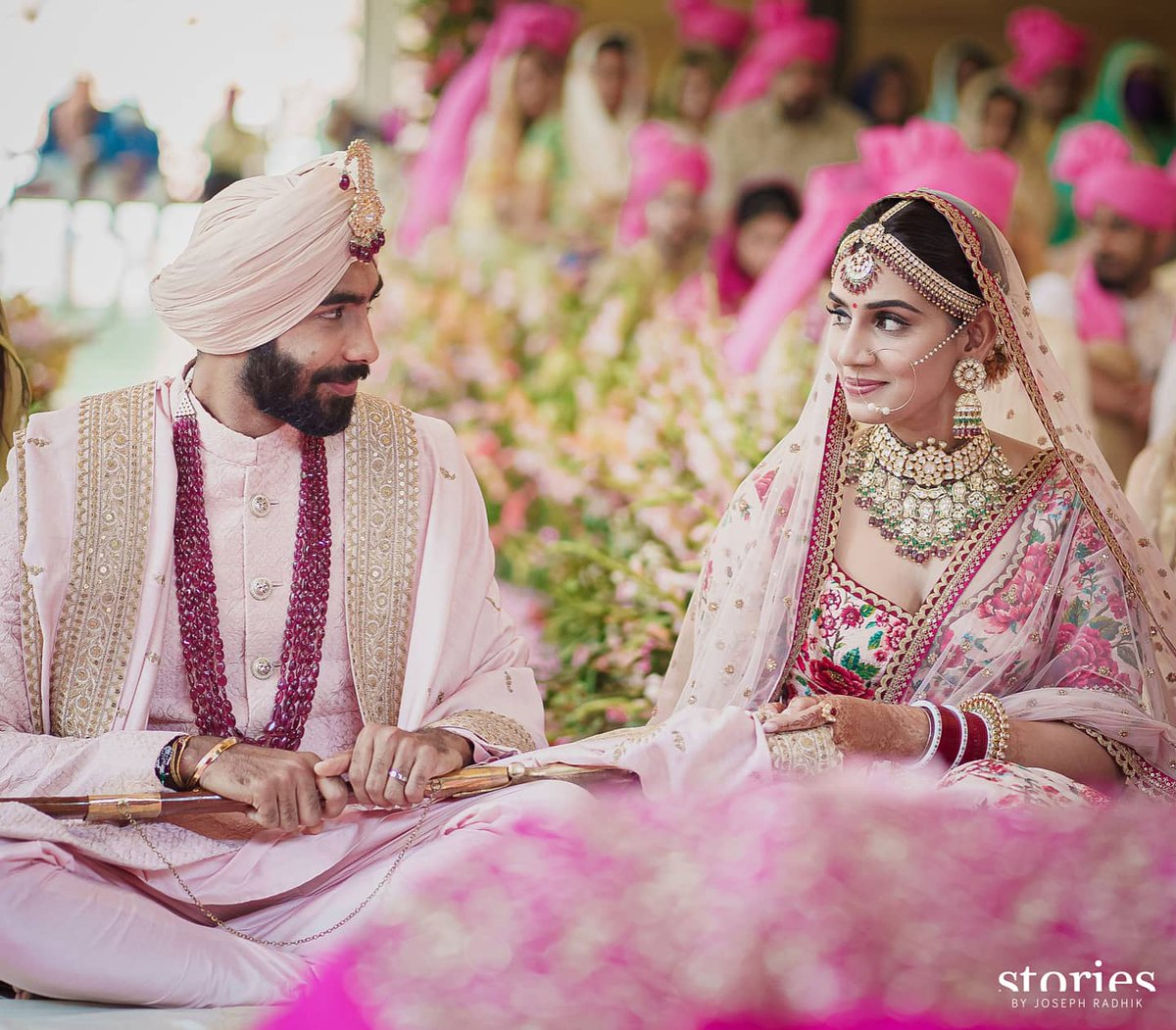 """Love, if it finds you worthy, directs your course.""  Steered by love, we have begun a new journey together. Today is one of the happiest days of our lives and we feel blessed to be able to share the news of our wedding and our joy with you.  Jasprit & Sanjana https://t.co/EQuRUNa0Xc"