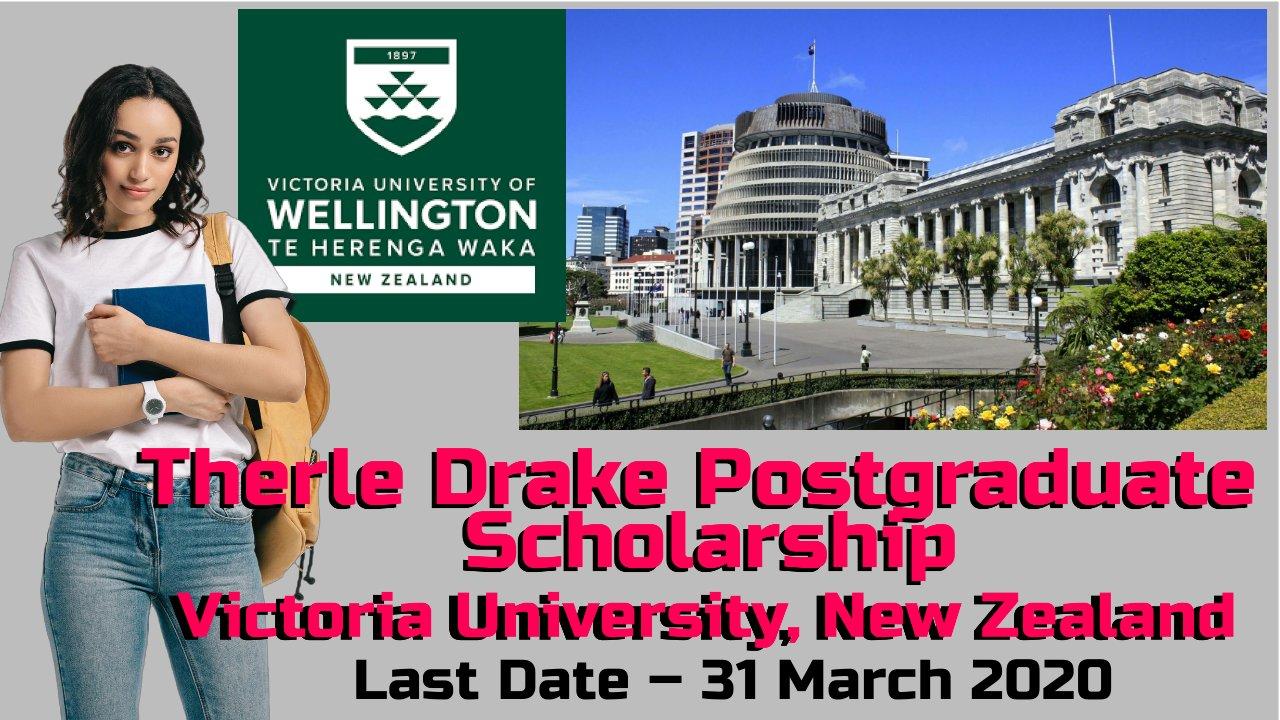 Therle Drake Postgraduate Scholarship, Victoria University, New Zealand