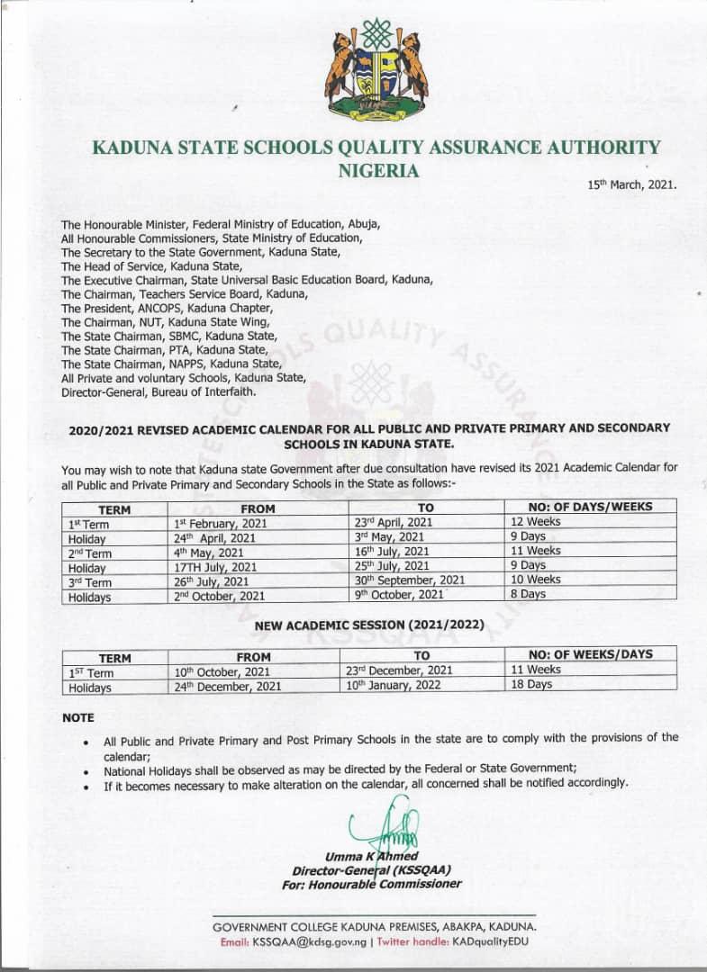 Ministry of Education Kaduna (@Kaduna_MoE) on Twitter photo 2021-03-15 15:13:04