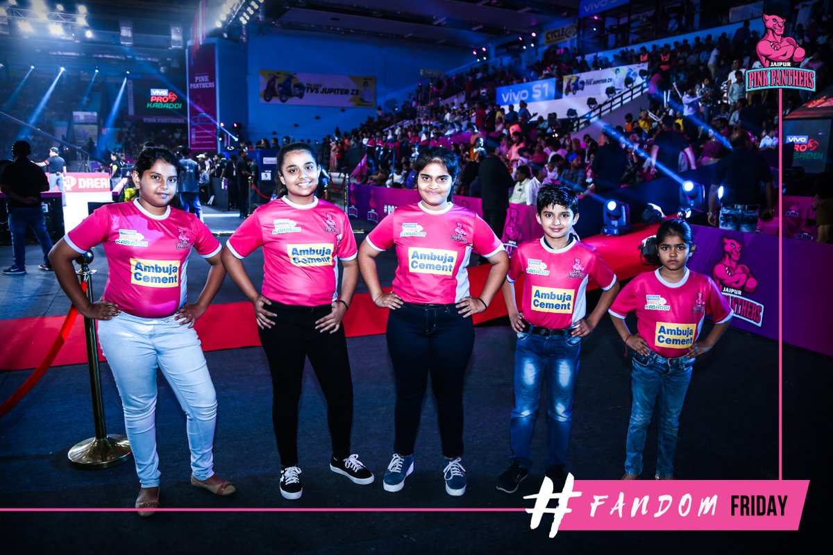 Being a fan doesn't mean you were there since the beginning. It means you'll be there till the end!  #FandomFriday #PantherSquad #JaiHanuman #TopCats #JaipurPinkPanthers #JPP #Jaipur #vivoprokabaddi