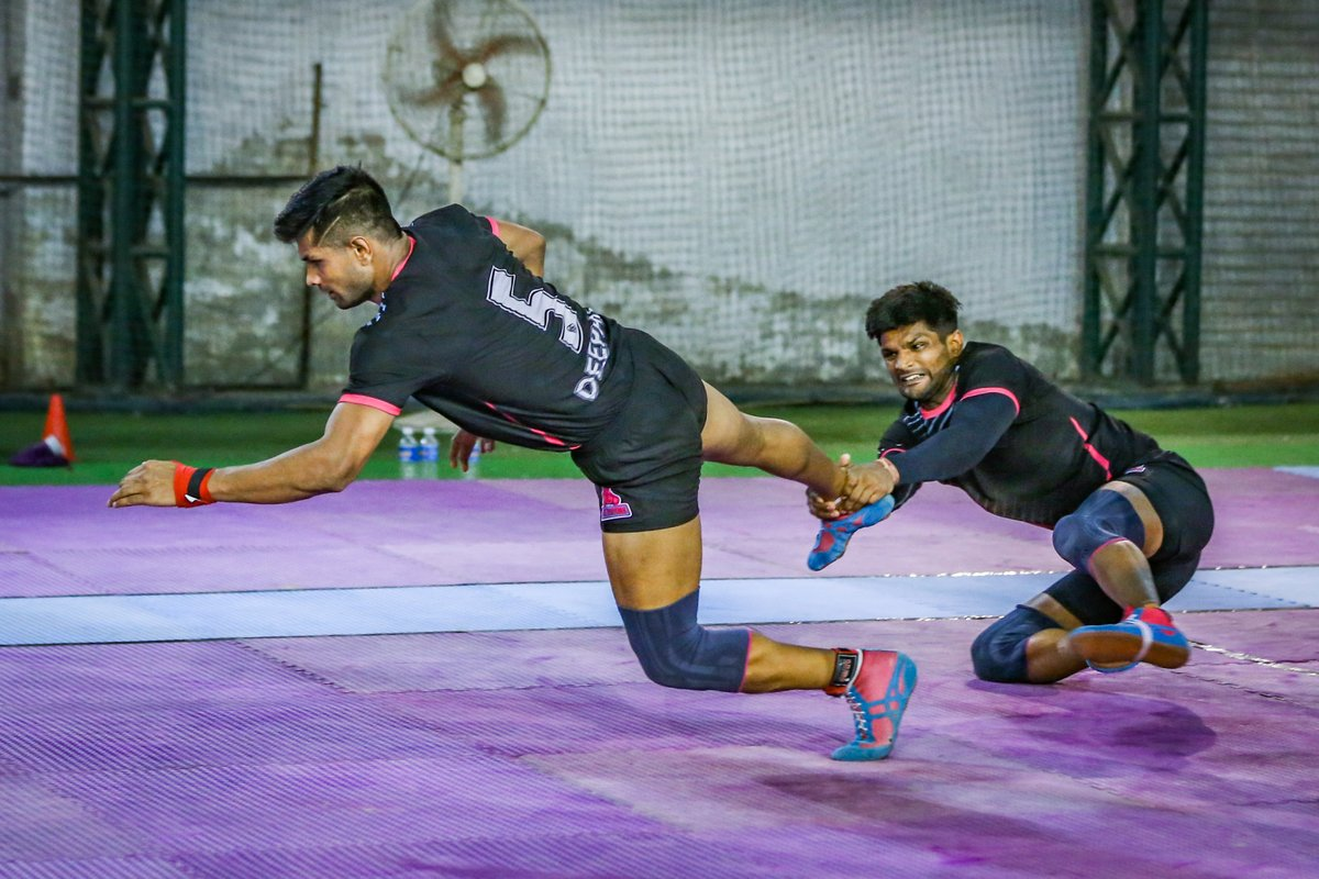 Every practice is a learning process.  #PantherSquad #JaiHanuman #TopCats #JaipurPinkPanthers #JPP #Jaipur #vivoprokabaddi