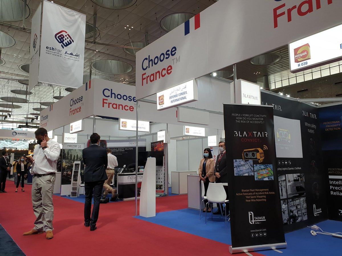 Venez rencontrer les entreprises françaises du secteur de la sécurité présentes en nombre au pavillon #ChooseFrance du salon #MilipolQatar2021 à #Doha. 🇶🇦🇫🇷  #Qatar @GICAT_FR @ccism77 @BF_MiddleEast https://t.co/KkKy1F2Wc1