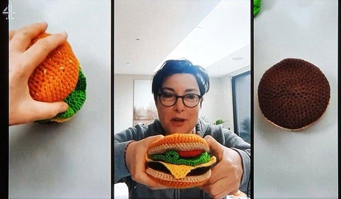 Sue Perkins crochet burger