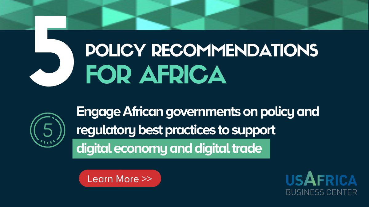 test Twitter Media - #5 recommendation to the #BidenAdministration and #Congress on U.S. Policy towards Africa - promote the creation and continuation of robust digital economies in Africa. https://t.co/Vu6IsMAcki https://t.co/wdhWyBQjgW