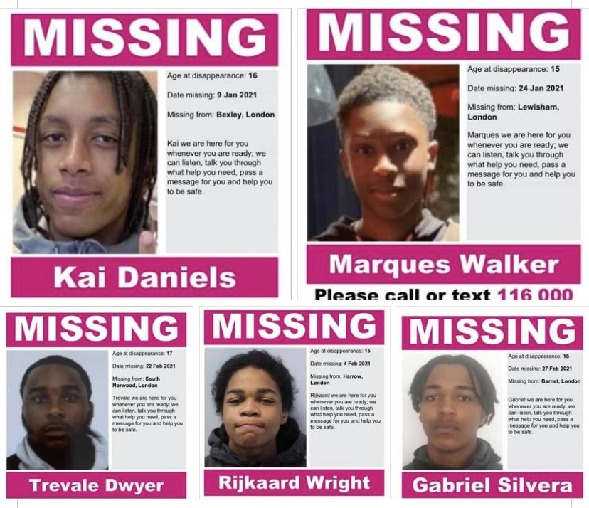 Missing black male children 2021. No protest or outrage.