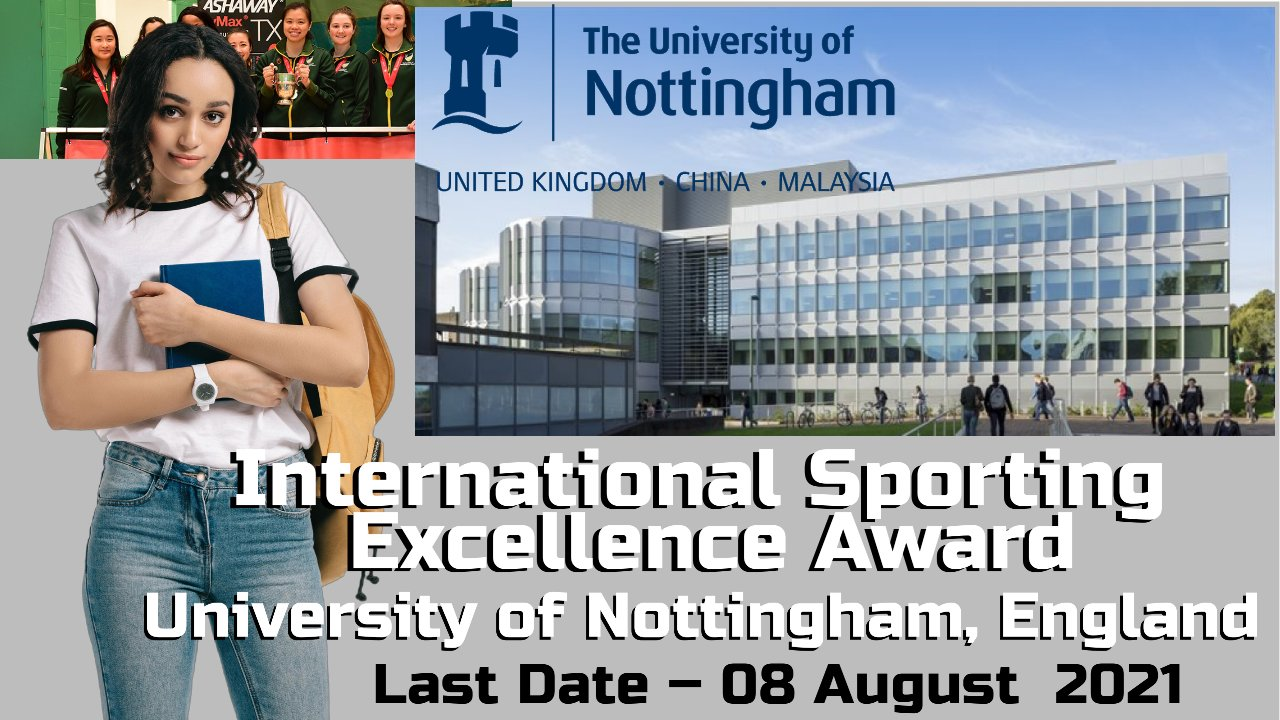 International Sporting Excellence Award, University of Nottingham, England