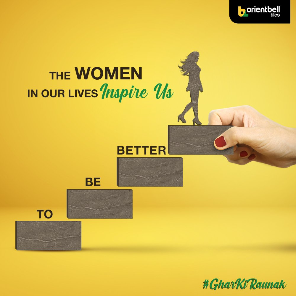 The way the ladies in our lives manage all their roles perfectly makes them our #GharKiRaunak and inspires us to improve with each passing day. #OrientbellTiles #GharKiRaunak #internationalwomensday #InternationalWomensDay2021 #WomensDay #WomensDay2021 #tiles