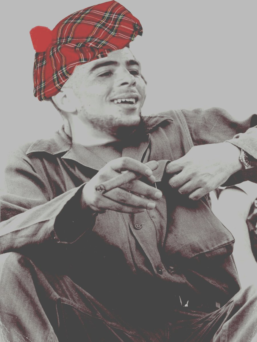 """martin compston on Twitter: """"Any photoshop experts get Che Adams in the Che  Guevara picture but make his hat a see you Jimmy bunnet… """""""