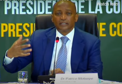 CAF President Patrice Motsepe is currently addressing the media following his election on Friday.
