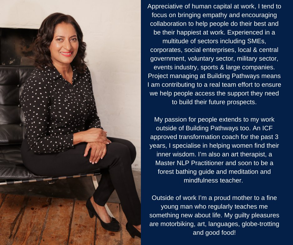 MEET THE TEAM!  Introducing Usha Chadha, our Project Manager and the latest addition to the Building Pathways Team. Read what Usha has to say here…  #MeetTheTeam #Project #Management #Community #ConstructionCareers #BuildingPathways #LoveConstruction #ConstructionUK