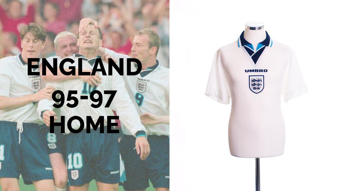 ENGLAND 1996 HOME KIT
