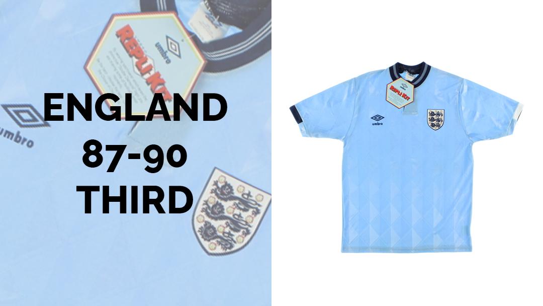 ENGLAND 1988 THIRD KIT
