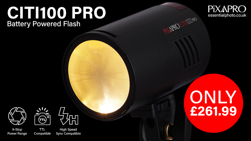 CITI100 PRO Battery Powered Flash Now Available! 100Ws Portable lighting unit is now in stock.  View here:   #EssentialPhoto #PiXAPRO #Photography #Videography #Lighting #Light #New #BrandNew #Godox #CITI100 #AD100 #CITI100PRO #AD100PRO #Flash #Strobe