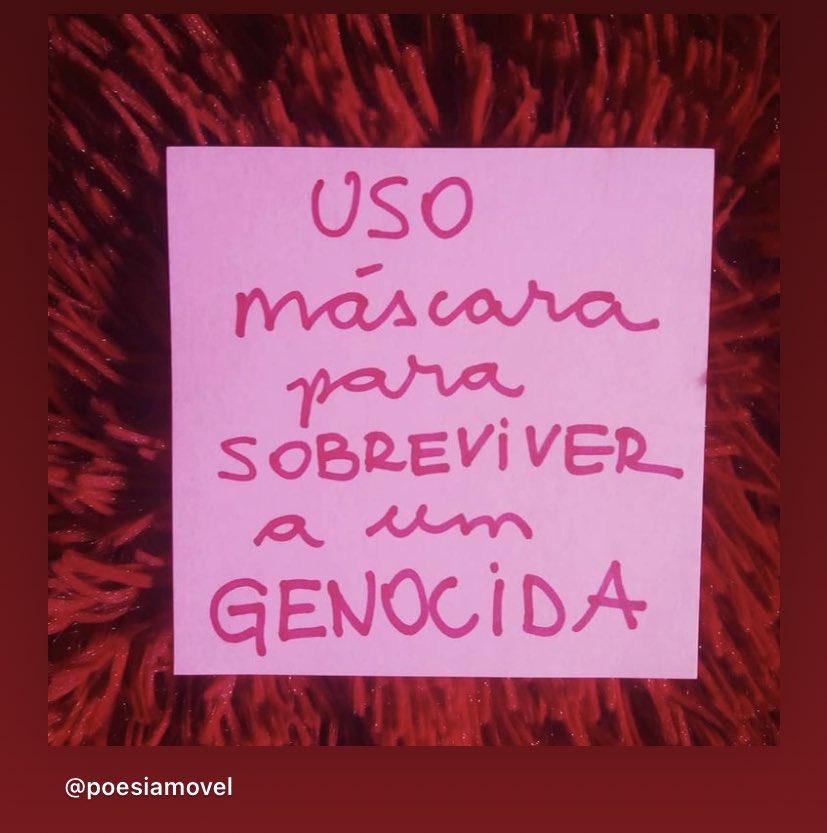 #Covid_19 #euusomascaraporque #Genocida https://t.co/CguFl9BJQZ