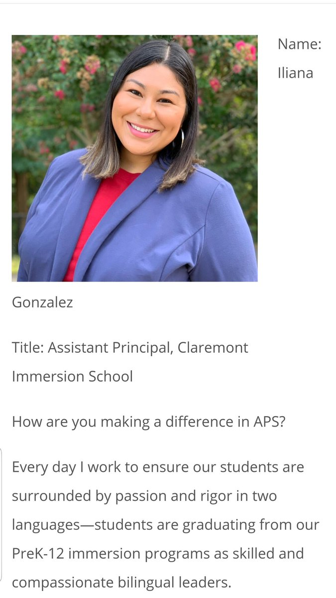 Congratulations to Mrs. Gonzalez! Our Claremont  assistant principal was featured by APS for women history month. Way to go!! <a target='_blank' href='https://t.co/cycfbr8qNr'>https://t.co/cycfbr8qNr</a> <a target='_blank' href='https://t.co/pOSe3N7gC3'>https://t.co/pOSe3N7gC3</a>