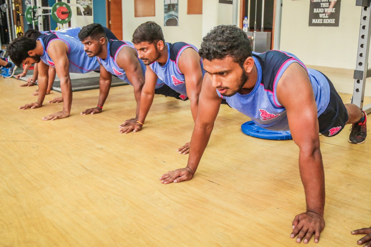 Endurance is patience concentrated.  #PantherSquad #JaiHanuman #TopCats #JaipurPinkPanthers #JPP #Jaipur #vivoprokabaddi
