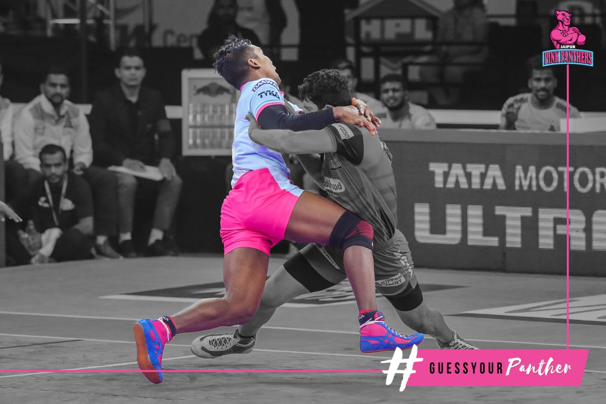 Guess Your #Panther 🤔 🧐  Leave your answer in the comments section below.  #GuessYourPanther #PantherSquad #JaiHanuman #TopCats #JaipurPinkPanthers #JPP #Jaipur #vivoprokabaddi