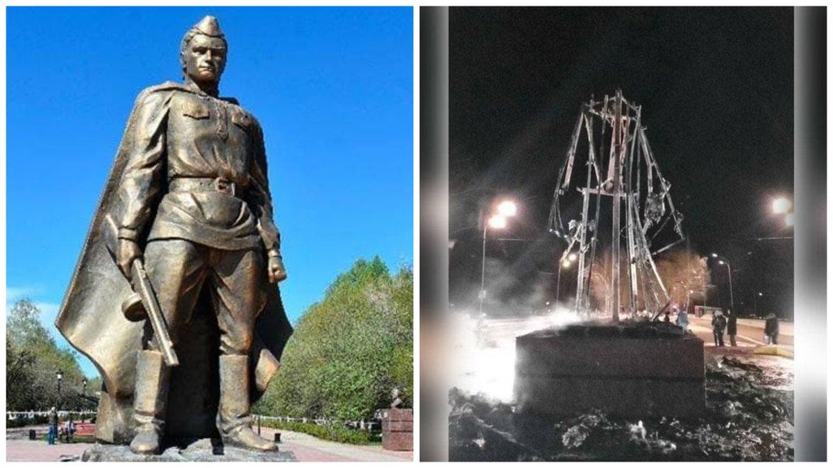 Сожжение памятника Воину-Освободителю в Татарстане