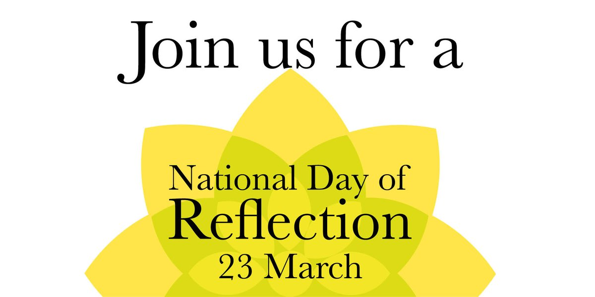 We're supporting a National #DayOfReflection for everyone who's been bereaved in the last year. Join us and @mariecurieuk on 23 March. Find out more at https://t.co/NDGeqEIkVK https://t.co/PiQpwpkQAo