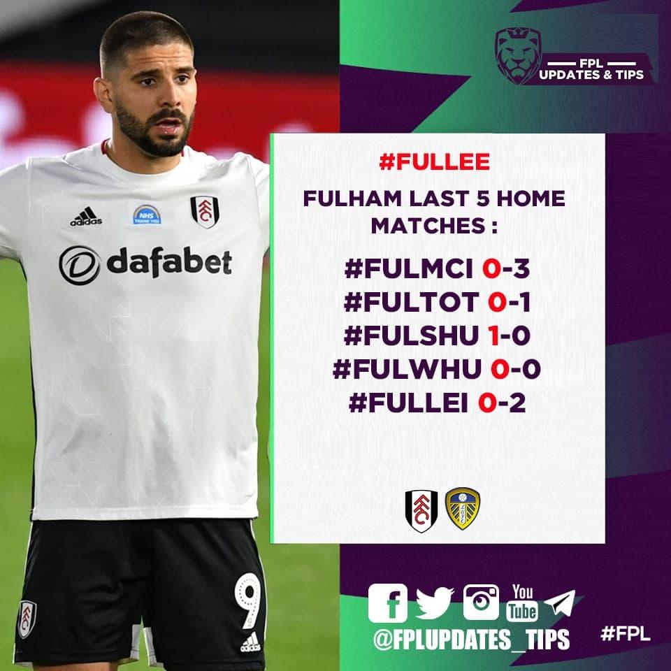 Fulham Last 5 Home Matches : #FULMCI 0-3 #FULTOT 0-1 #FULSHU 1-0 #FULWHU 0-0 #FULLEI 0-2  4/5 Failed to score 1 Goal Scored https://t.co/4Mzy7xdfzK