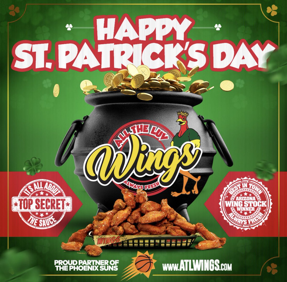 Wings goes well with your green activities today! All The Luv https://t.co/KEKPUS8ktK