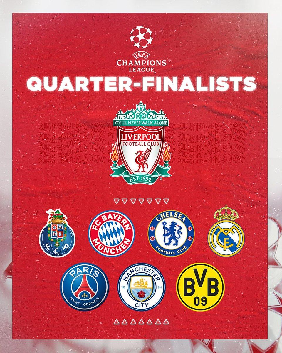 Liverpool Fc On Twitter Champions League Quarter Finalists Lfc Ucl
