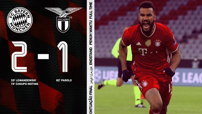 Skor akhir Bayern Muenchen 2-1 Lazio