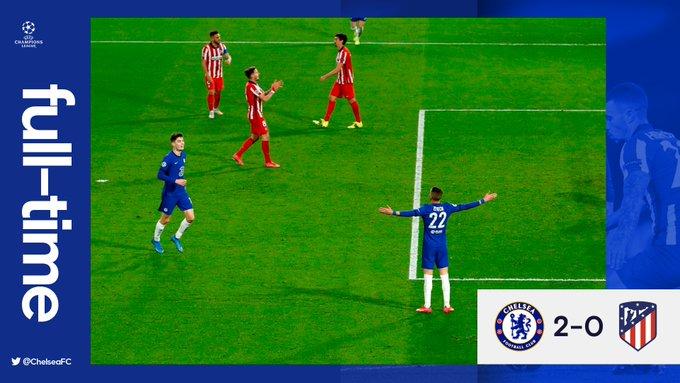 Hasil akhir Chelsea 2-0 Atletico Madrid