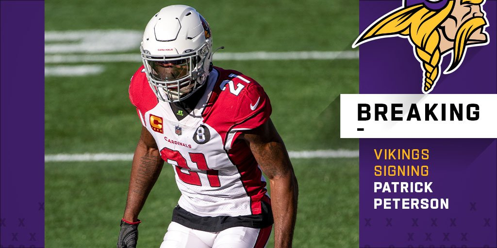 "NFL on Twitter: ""Vikings, CB Patrick Peterson agree to one-year, $10 million deal. (via @RapSheet)… """