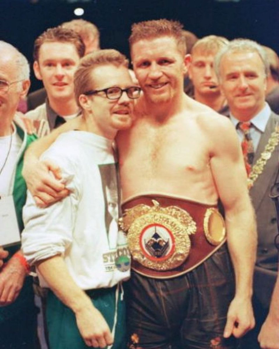 Here's a #waybackwednesday and a #HappyStPatricksDay in one - @FreddieRoach with the Celtic Warrior Stevie Collins!  One of Freddie's World Champions and one of the best Irish boxers of all time #wildcardboxing #boxers #fighters #worldchampions #boxing #fightfamily @WCBstore https://t.co/05SByCJn67