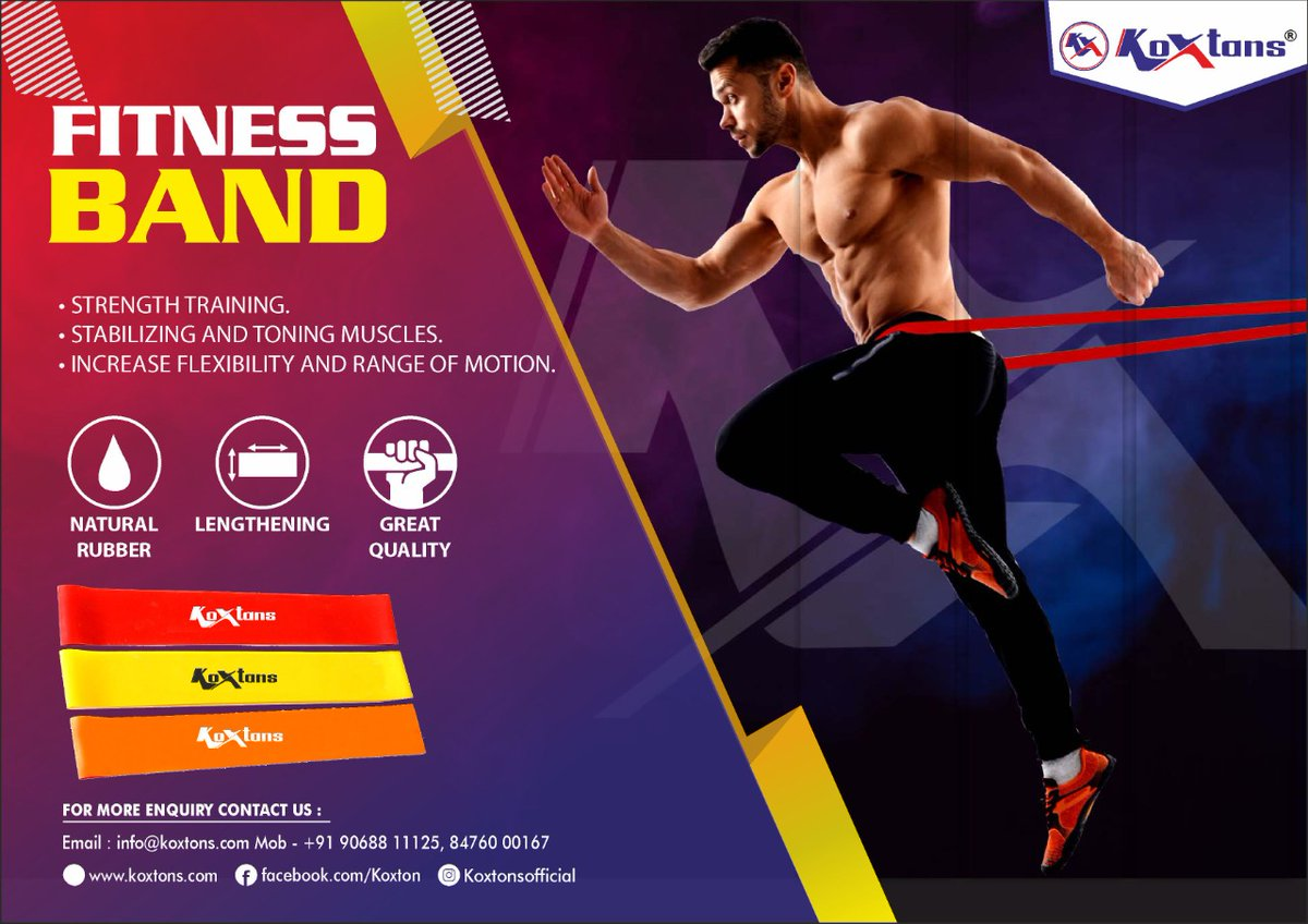 KOXTONS Fitness bands are perfect for all types of training and stretching and can be used anywhere, at anytime! Visit https://t.co/lMNXHnQaNt or DM on 9068811125  #fitness #fitnessbands #resistancebands #workout #gym #workoutmotivation #fitnessequipment  #fitnessgoals #stayfit https://t.co/E6jliGAOnH