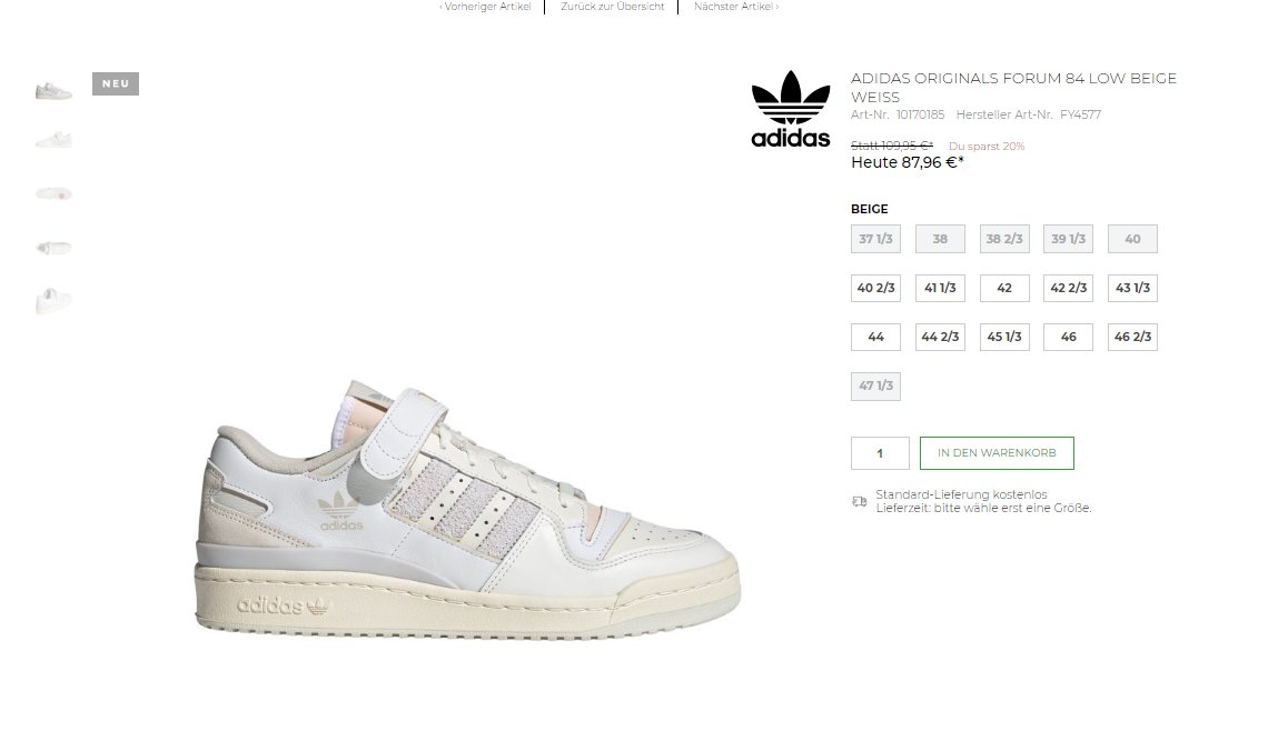 Live Early + 20% OFF: Adidas Forum 84 Low