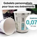 Image for the Tweet beginning: 🥤Gobelets personnalisés 🥤  - Quatre tailles