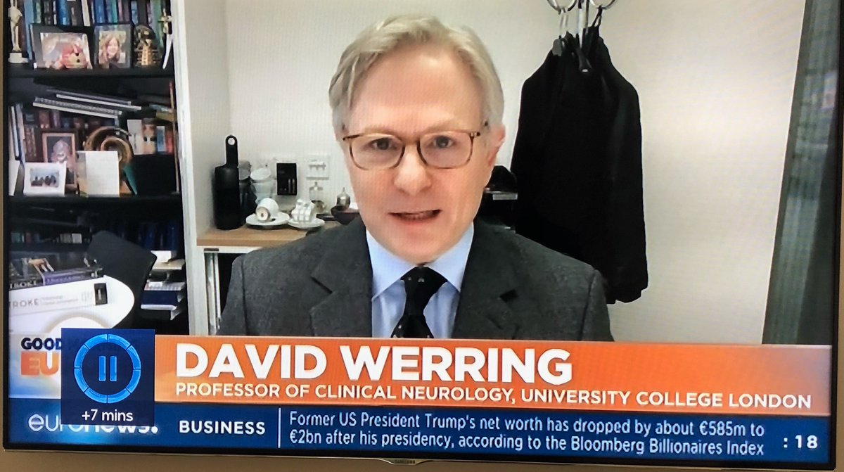 """UCL Stroke Research on Twitter: """"Prof David Werring from @UCLStrokeRes on  @euronews emphasises venous thrombosis rate associated with the Astra  Zeneca vaccine lower than expected by chance; benefits of #vaccination for  #COVID-19"""