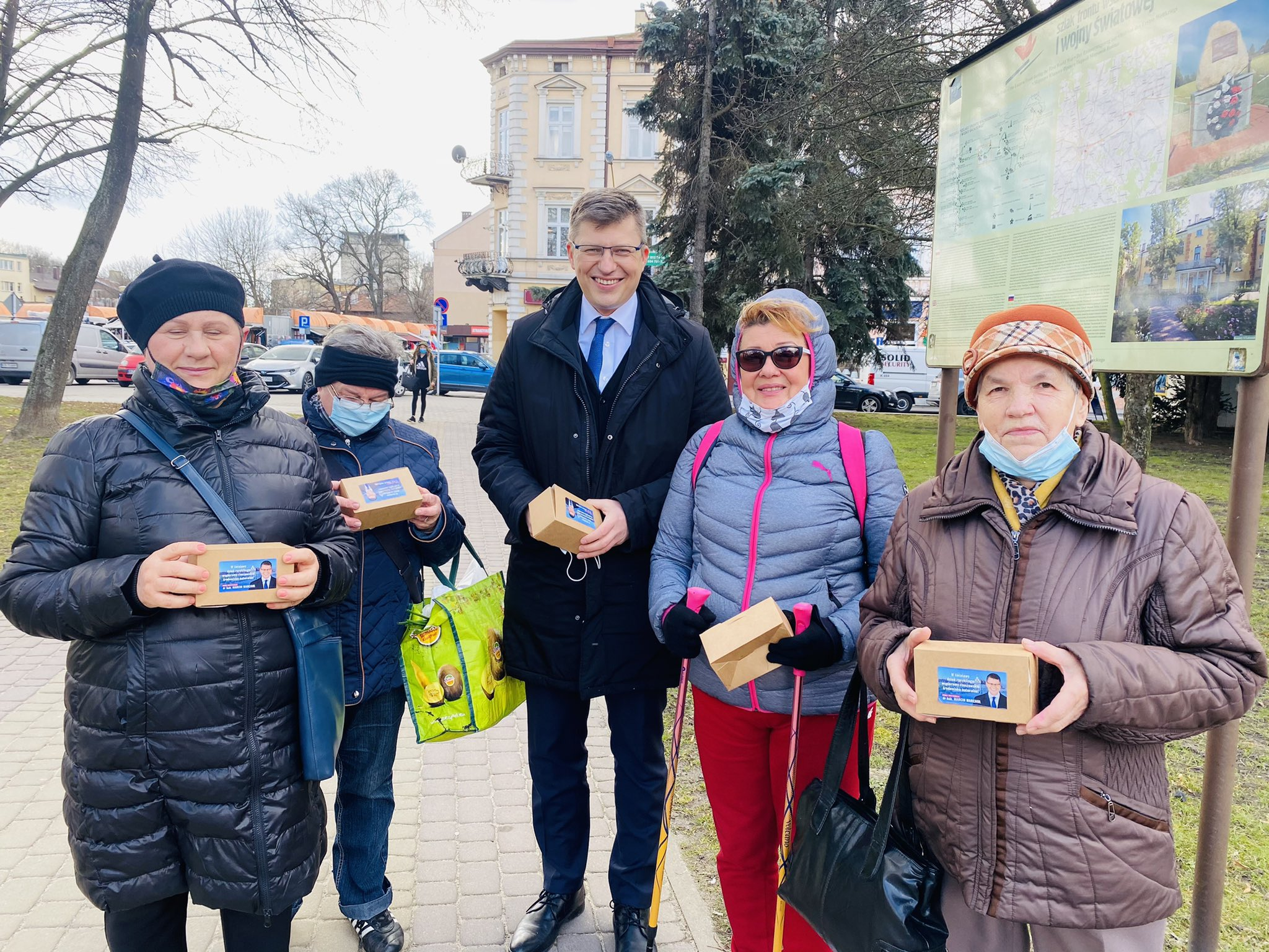 Rzeszów, 18 marca 2021, źródło: profil na Twitterze Marcina Warchoła kandydata Solidarnej Polski na prezydenta miasta