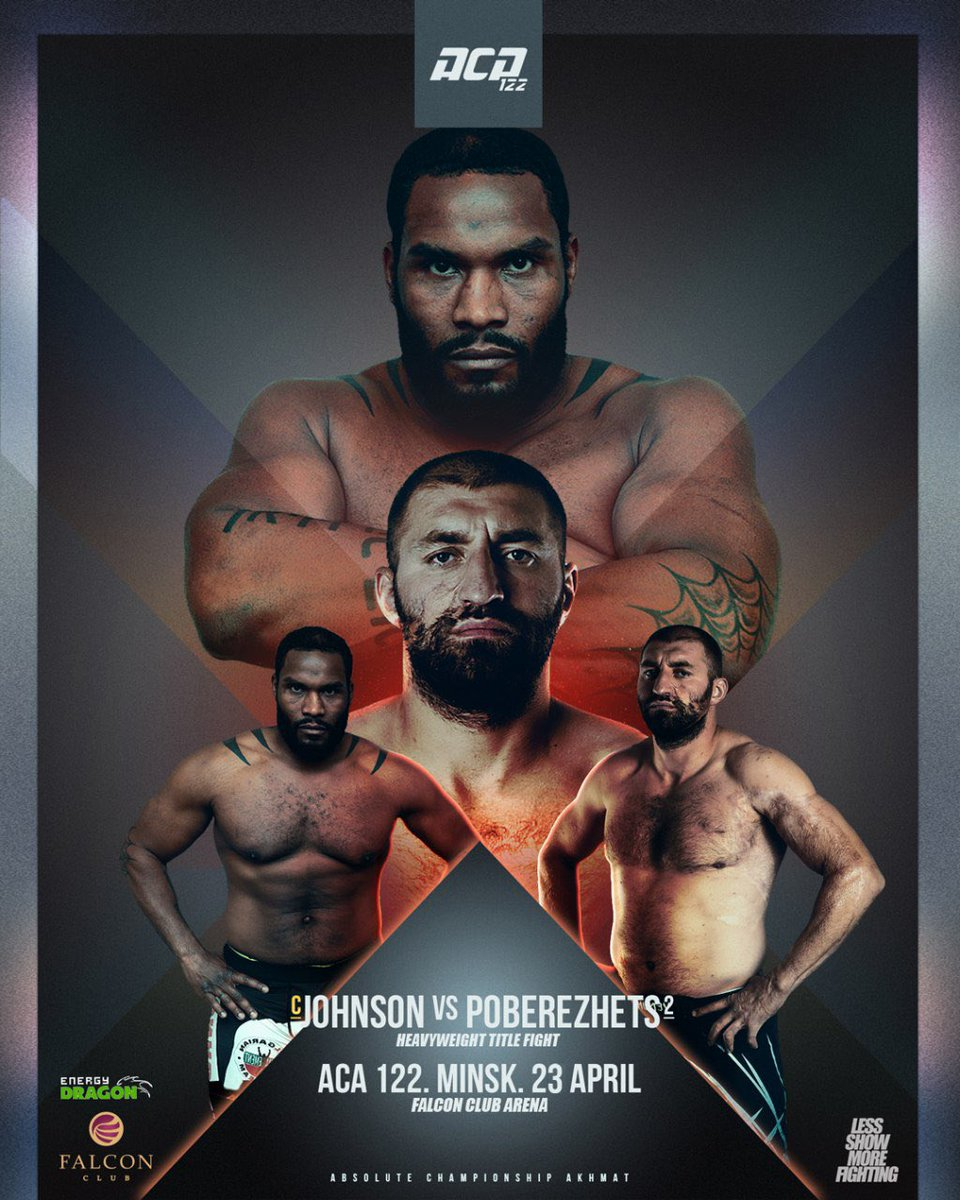"""ACAMMA on Twitter: """"🔥We are ready to announce the ACA 122 event in Minsk,  Belarus! Heavyweight title is on the line! Tony """"The Hulk"""" Johnson Jr. will  defend his title for the"""